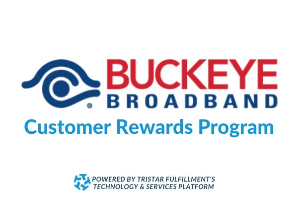 Buckeyeye broadcast logo for customer rewards program built by tristar